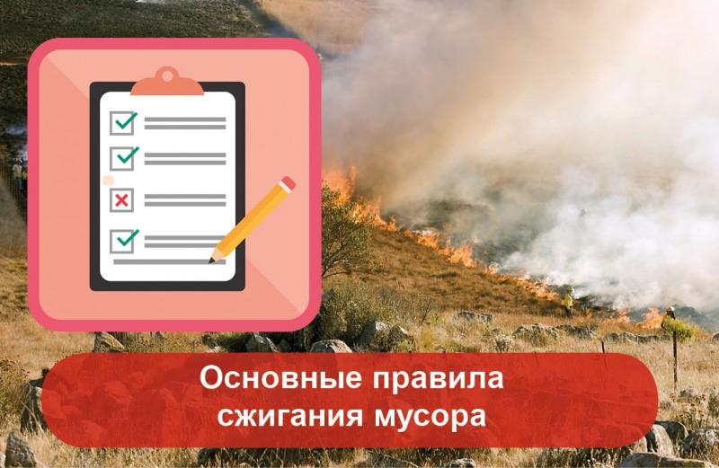 основные правила сжигания мусора