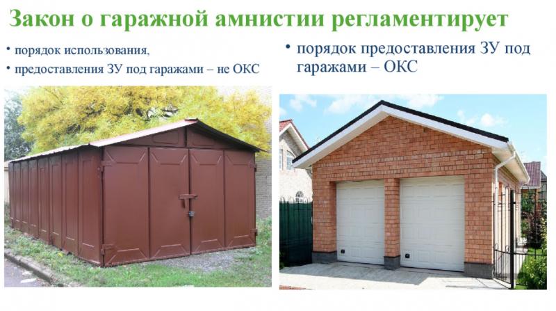 Гаражная амнистия касается гаражей ОКС и не ОКС