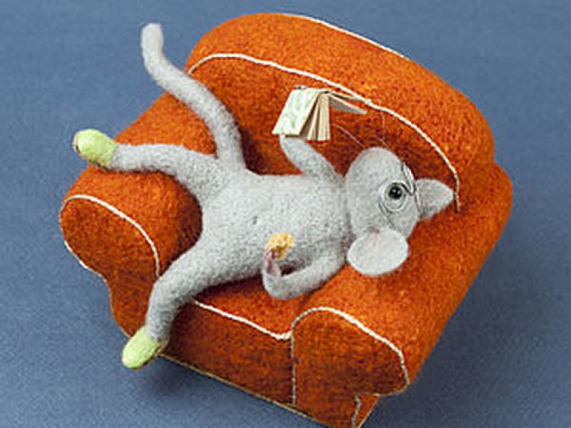 мышка на диване