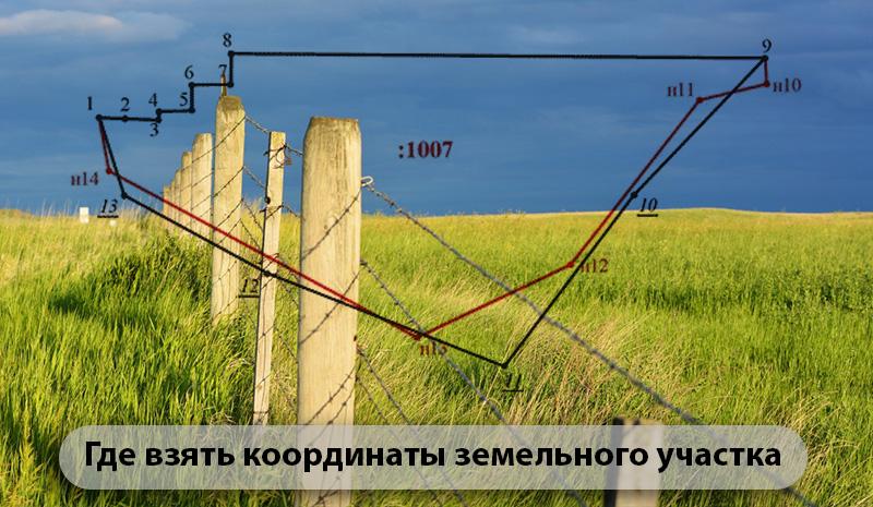 Где взять координаты земельного участка