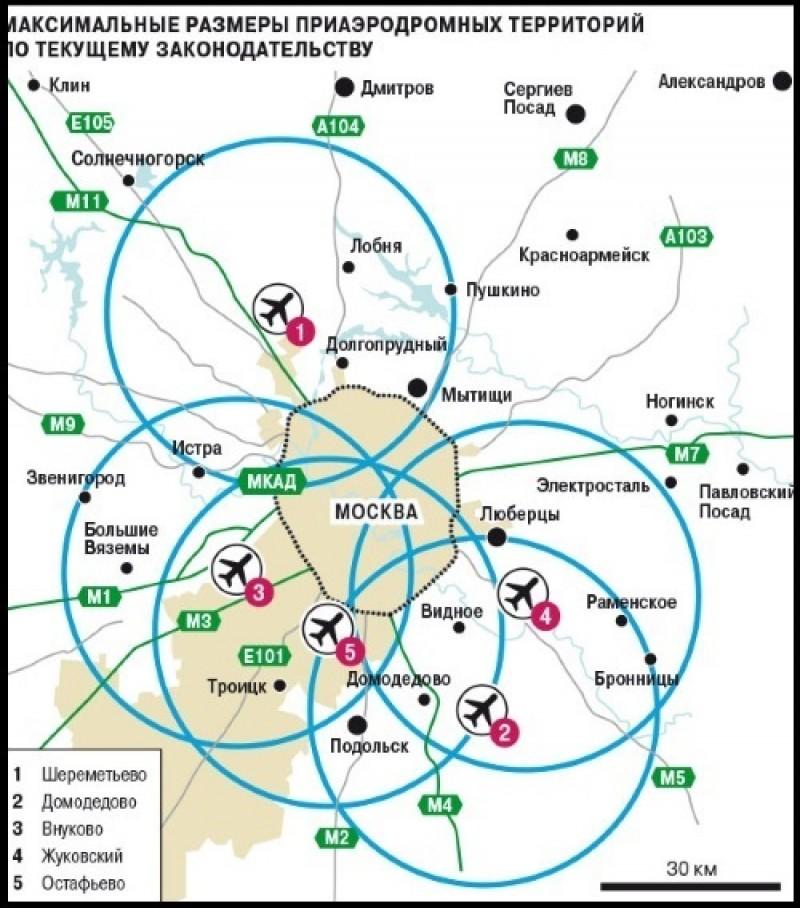 карта приаэродромной территории