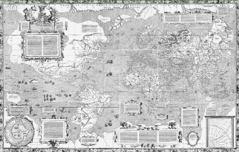Картограф - Карта мира 1569 год.